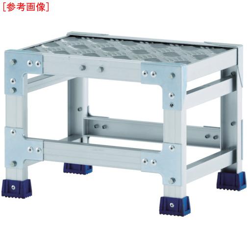 アルインコ アルインコ 作業台(天板縞板タイプ)1段 天板寸法600×400mm 高0.5m CSBC146S