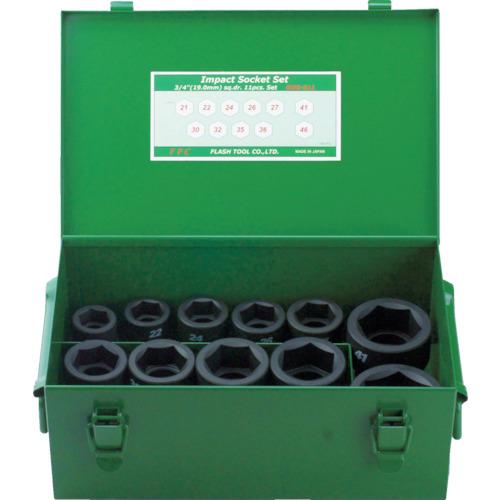 フラッシュツール FPC インパクト ショートソケット セット 差込角19.0mm 11pc 6WSS11