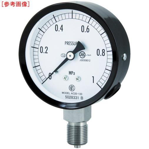 長野計器 長野 普通形圧力計(A枠立形・φ75・G3/8B・0.0~0.10Mpa) AC201330.1MP