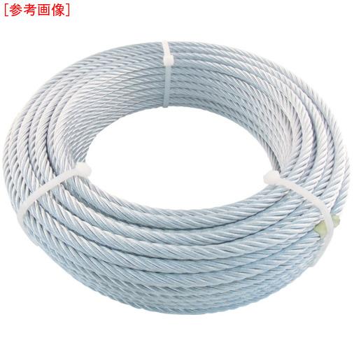 トラスコ中山 TRUSCO JIS規格品メッキ付ワイヤロープ (6X24)Φ9mmX50m JWM9S50