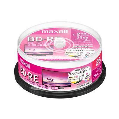 マクセル (Maxell) BEV25WPE25SP 録画用BD-RE ひろびろ美白レーベルディスク 1-2倍 25GB 25枚 スピンドルケース BEV25WPE.25SP-RE 4902580517977【納期目安:1週間】
