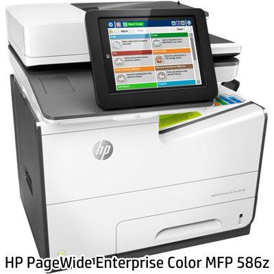 日本HP <PageWide Enterprise>ビジネスプリンター複合機 Color MFP 586z(4色独立インクジェット/LAN/USB2.0x2/A4/プリンター/スキャナー/コピー/FAX) G1W41A#ABJ【納期目安:追って連絡】