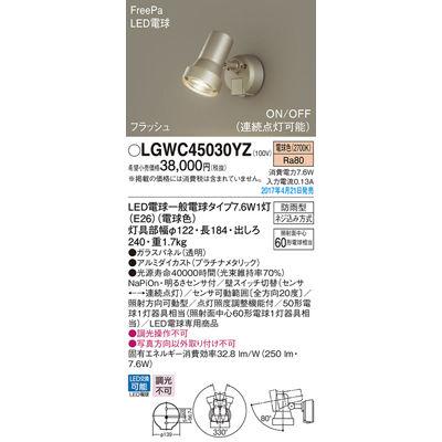 パナソニック エクステリアライト LGWC45030YZ