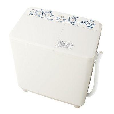 AQUA 二槽式洗濯機(洗濯・脱水容量4.5kg) ホワイト AQW-N451-W【納期目安:約10営業日】