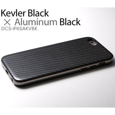 Deff Hybrid Case UNIO for iPhone 6s Kevler Black + アルミブラック DCS-IP6SAKVBK【納期目安:1週間】