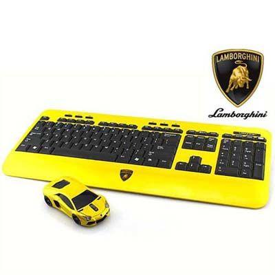 LANDMICE Lamborghini LP700 2.4G無線マウス+キーボード イエロー LB-LP700KM-YL
