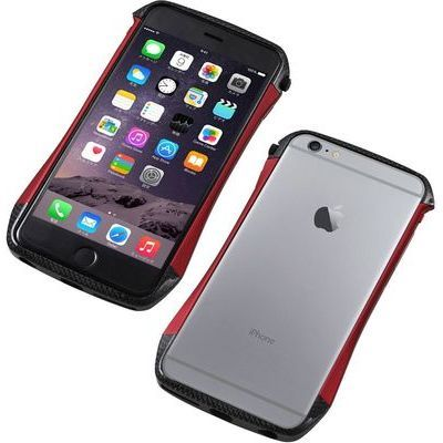 Deff CLEAVE Hybrid Bumper for iPhone6 Plus/6S Plus Carbon&Red DCB-IP6PSA6CARD