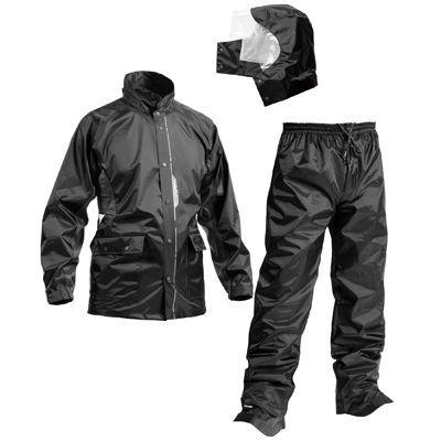 Makku(マック) マック セブン ポイント 全2色 5サイズ レインスーツ 上下 ブラック L 防水 2レイヤー 止水テープ DD-08473