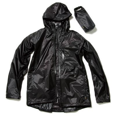 Makku(マック) マック UL レインジャケット ブラック LL 全3色 3サイズ 2層レイヤー 収納袋付き フード着脱式 EE-01726