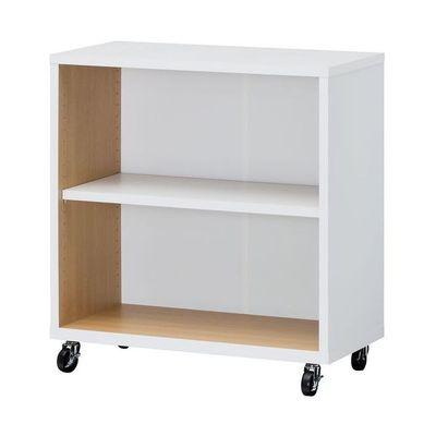 白井ホーム ファイル、書籍などのオフィスのベーシック収納アイテム オープンラック:キャスター付 OF2-8075C