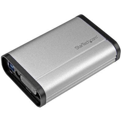 StarTech USB 3.0接続DVIビデオキャプチャーユニット 1080p/ 60fps対応 TV/テレビ 動画レコーダーデバイス アルミ筐体 DVI-I(メス) - USBタイプB(メス) USB32DVCAPRO