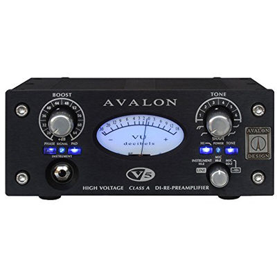 AVALONDESI AVALON V5 BLACKClass A DI-Re-PreAmplifierアヴァロン DI+マイクプリアンプ 4534853911498【納期目安:追って連絡】