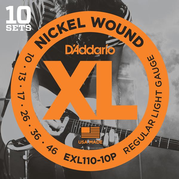 DADDARIO 【10個セット】ギター弦マルチパックEXL110-10P1ケース 0019954952112