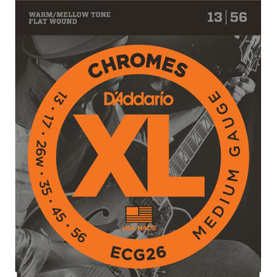 DADDARIO 【10個セット】ECG26 エレキギター弦フラットワウンド弦 / D'Addario 0019954147068