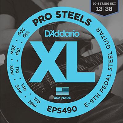 DADDARIO 【10個セット】D'Addario ダダリオ / EPS490 ProSteels E9th Pedal Steel Tuning 0019954995522