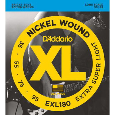 DADDARIO 【5個セット】D'Addario XL Nickel Round Wound EXL180 0019954925406