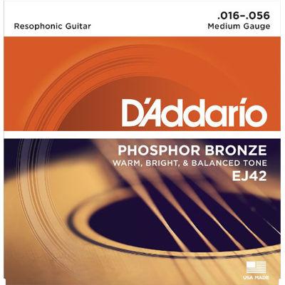 DADDARIO 【10個セット】EJ42 アコースティックギター弦 Resophonic Guitar / D'Addario 0019954122171