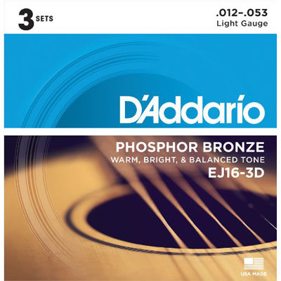 DADDARIO 【10個セット】D'Addario ダダリオ EJ16-3D 0019954126063