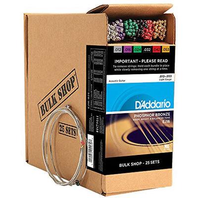 DADDARIO 【10個セット】アコースティックギター弦Bulk ShopEJ16-B25 0019954944698
