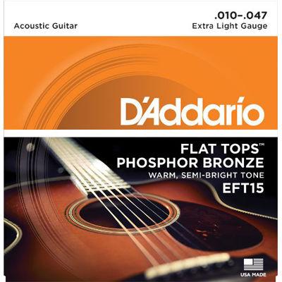 DADDARIO 【10個セット】EFT15 アコースティックギター弦 Extra Light / D'Addario 0019954121228