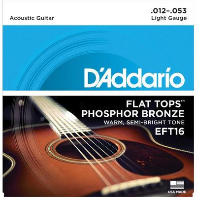 DADDARIO 【10個セット】D'Addario EFT16 R.Light 012-053 アコースティックギター弦 0019954121235