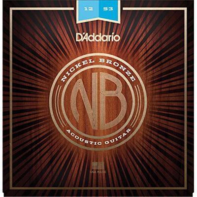 DADDARIO 【10個セット】D'Addario/ダダリオ Nickel Bronze Wound Acoustic Guitar Strings NB1253/Light, 12-53 0019954182175