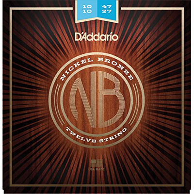 DADDARIO 【10個セット】D'Addario ダダリオ アコースティックギター弦 ニッケルブロンズ Regular Light 12弦 .010-.047 NB1047-12 0019954194956