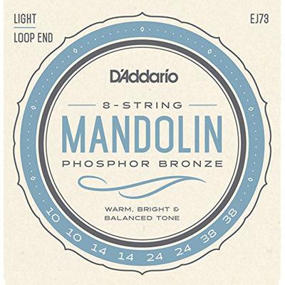 DADDARIO 【10個セット】D'Addario マンドリン弦 フォスファーブロンズ Light EJ73 0019954910716