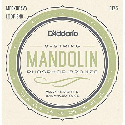 DADDARIO 【10個セット】D'Addario マンドリン弦 フォスファーブロンズ Medium Heavy EJ75 0019954910730