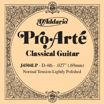 DADDARIO 【10個セット】D'Addario ダダリオ クラシックギター用バラ弦 プロアルテ D-4th J4504LP Lightly Polish 0019954926540