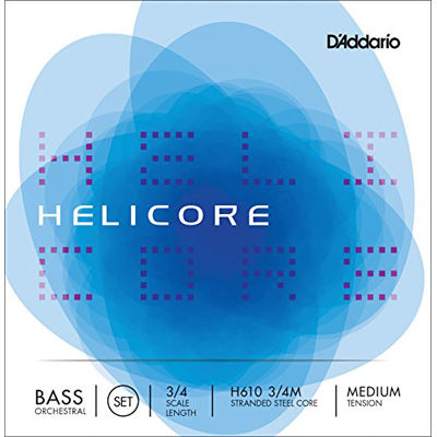 DADDARIO D'Addario ウッドベース(コントラバス)弦 H610 3/4M Helicore Orchestral Bass Strings SET 0019954179014