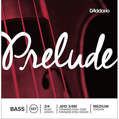 DADDARIO D'Addario ウッドベース(コントラバス)弦 J610 3/4M Prelude Bass Strings SET 0019954950583