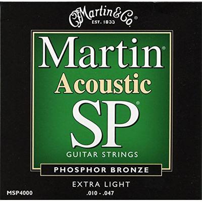 MARTIN 【10個セット】マーチン アコースティックギター弦 MSP-4000 エクストラライト 0729789340007