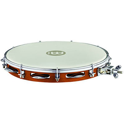 MEINL PA12CN-M-TF-H TRADITIONAL WOOD PANDEIRO WITH HOLDER 12