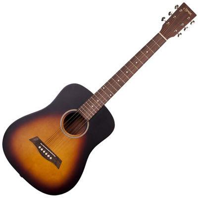 SYAIRI 【6個セット】YM-02/VS ミニアコースティックギター ヴィンテージサンバースト Compact-Acoustic シリーズ YM02VSSC ソフトケース付き 4534853040013