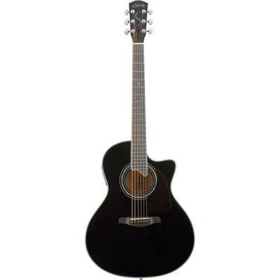 SYAIRI YE-5M/BK アコースティックギター ブラック E-Acoustic シリーズ YE5MBKSC ソフトケース付き 4534853523042