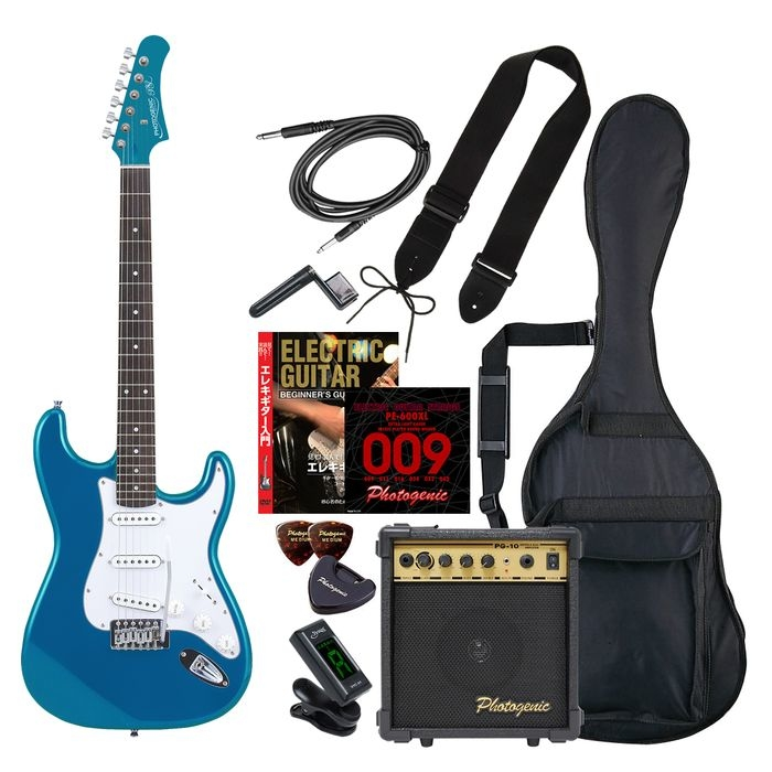 ENTRY ST-180/MBL エントリ-セツト フォトジェニック エレキギター エントリーセット メタリックブルー Photogenic ST180MBLエントリセツト 4534853531146