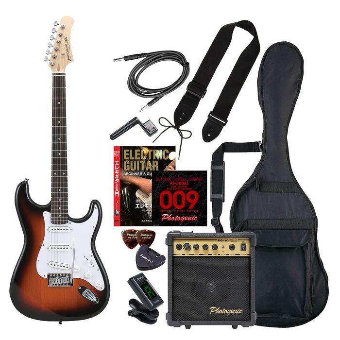 ENTRY ST-180/SB エントリ-セツト フォトジェニック エレキギター エントリーセット サンバースト Photogenic ST180SBエントリセツト 4534853531344