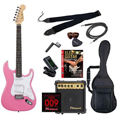 ENTRY ST-180/PK エントリ-セツト フォトジェニック エレキギター エントリーセット ピンク Photogenic ST180PKエントリセツト 4534853531542