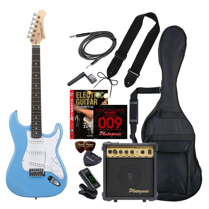 ENTRY ST-180/UBL エントリ-セツト フォトジェニック エレキギター エントリーセット ライトブルー Photogenic ST180UBLエントリセツト 4534853531740