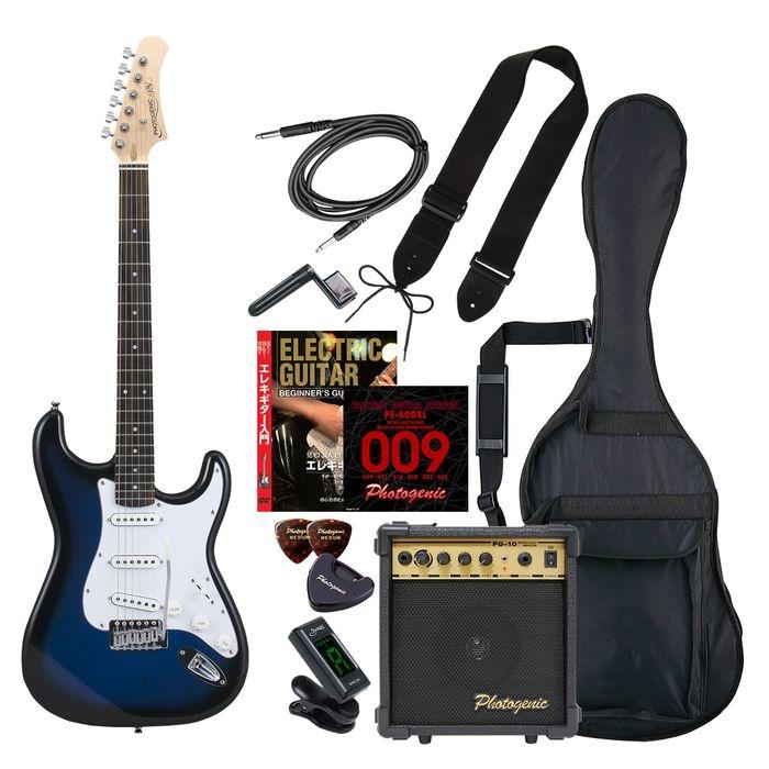 ENTRY ST-180/BLS エントリ-セツト フォトジェニック エレキギター エントリーセット ブルーサンバースト Photogenic ST180BLSエントリセツト 4534853531948