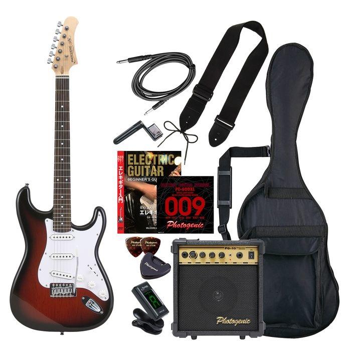 ENTRY ST-180/RDS エントリ-セツト フォトジェニック エレキギター エントリーセット レッドサンバースト Photogenic ST180RDSエントリセツト 4534853532044