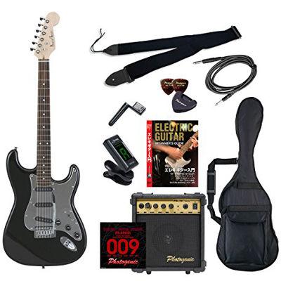 ENTRY PhotoGenic エレキギター 初心者入門エントリーセット ストラトキャスタータイプ ST-200/BK/MIR ブラック ミラーピックガード仕様 4534853068710