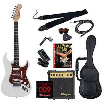ENTRY PhotoGenic エレキギター 初心者入門エントリーセット ストラトキャスタータイプ ST-200/WH/T3P ホワイト べっ甲柄ピックガード仕様 4534853068918