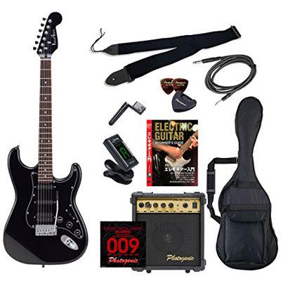 ENTRY PhotoGenic エレキギター 初心者入門エントリーセット ストラトキャスタータイプ STH-200/BK ブラック オールブラック仕様 4534853069618