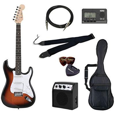 VALUE Photo Genic/フォトジェニック ST-180/SB エレキギター初心者向け豪華8点バリューセット ST180 ビギナー向け/ストラトキャスタータイプ 4534853041805