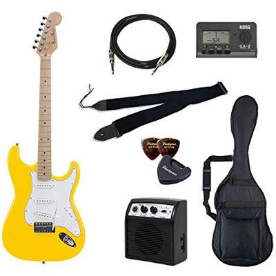 VALUE Photo Genic ST-180M/YW エレキギター初心者向け豪華8点バリューセット ST180 ビギナー向け/ストラトキャスタータイプ 4534853030809