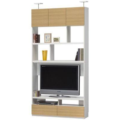 白井産業 リビングをすっきり素敵に! 壁面テレビボード Liviewal リビュアル LVA-2412TVNA