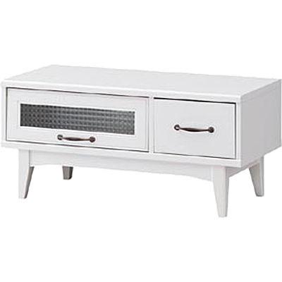 白井産業 レトロモダンの甘さを抑えた白い家具 ローボード Retroa レトロア RTA-4085FH
