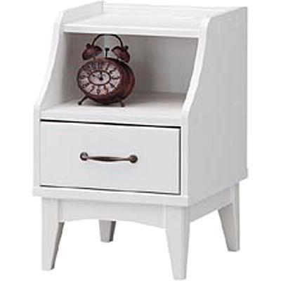 白井産業 レトロモダンの甘さを抑えた白い家具 ナイトテーブル Retroa レトロア RTA-6040H